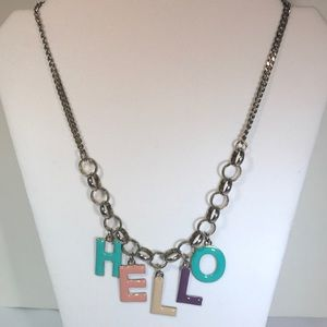 """Jewelry - """" H E L L O """" necklace Super Cute!"""